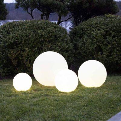 Zestaw 4 świecących kul TWILIGHTS Panele słoneczne