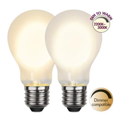 Żarówka LED A60 DIM-TO-WARM, 4W / 2200-3000K / E27