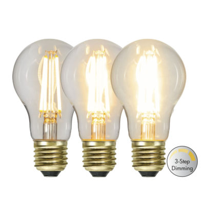 Żarówka LED A60 3-STEP CLICK, 6.5 W / 2100K / E27
