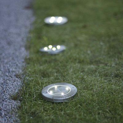 3 Lampki zewnętrzne z panelem słonecznym GRASS LIGHT SOLAR Panele słoneczne
