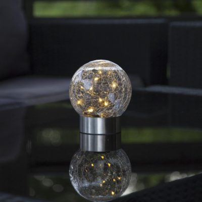 Lampion zewnętrzny z panelem słonecznym GLASS BALL Panele słoneczne