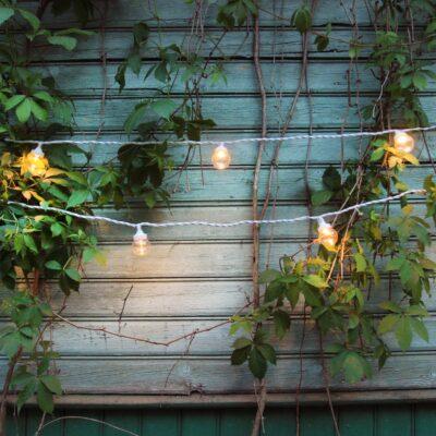 5m łączona girlanda świetlna LED LIGHT BALL WHITE&CLEAR