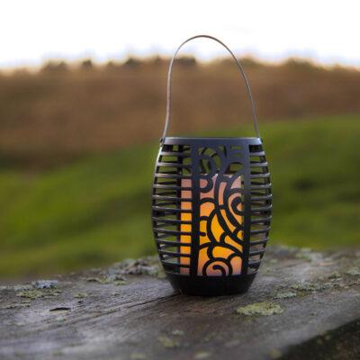 Lampion ogrodowy z panelem słonecznym FLAME SOLAR Panele słoneczne