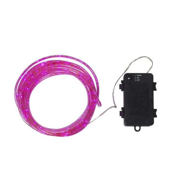 5m girlanda świetlna na baterie TUBY PINK