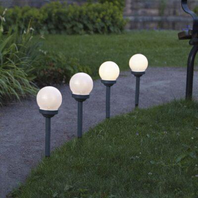 4 Lampiony ogrodowe z panelem słonecznym GLOBUS 4 PACK