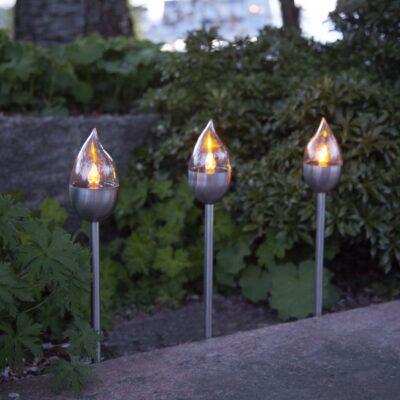 Zestaw 3 lampionów z panelem słonecznym OLYMPUS Panele słoneczne
