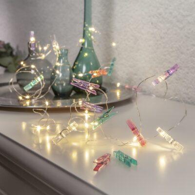 Lampki-druciki CLIPPY o długości 2.9m, zasilane bateriami 3AA